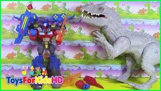 Juguetes de Transformers Optimus Prime Hero Mashers Vs INDOMINUS juguetes para niños ToysForKidsHD