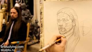 Смотреть онлайн Как правильно рисовать портрет человека