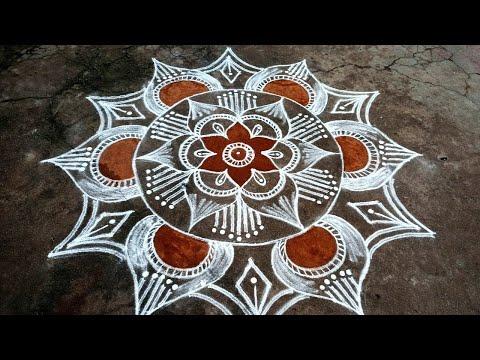 big beautiful kolam design for poojas