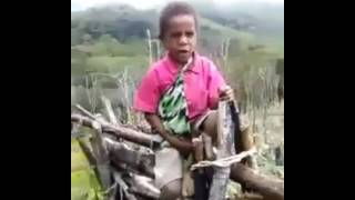 Papua New Guinea National Anthem sang by Proud Kumul Kid. #
