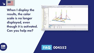 FAQ 004552 | When displaying the results, the color scale is missing, even though it is activated. Can you help me?