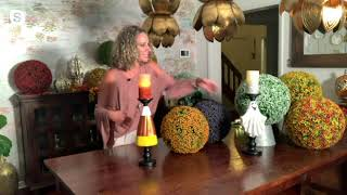 Hay & Harvest Figural Candle Pillar with Flameless Candle on QVC