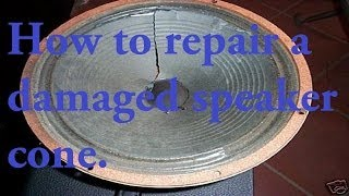 How to repair a damaged speaker