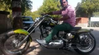 how to modify rajdoot old 175 like herly dividson bike