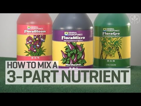 How To Mix a 3-Part Hydroponics Nutrient Solution