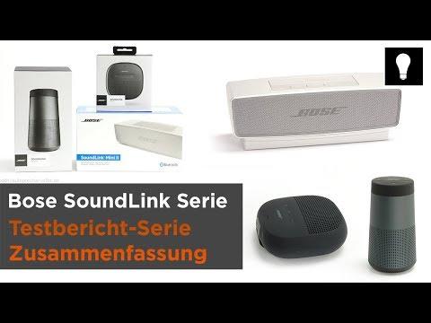 Drei Bose SoundLink Bluetooth-Lautsprecher im Test - Micro, Mini II, Revolve - Zusammenfassung