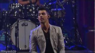 Joe Jonas - I'm Sorry live on Late Show with David Letterman 2011