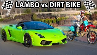 DIRT BIKE VS LAMBORGHINI (WHO WILL WIN?)