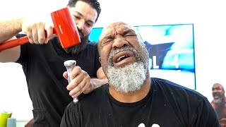 LET'S GO CHAMP! World Champion Boxer Shannon Briggs gets the LOUDEST crack of his life!