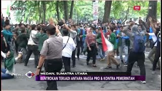 Demo Massa Pro-Kontra Jokowi di Medan Berujung Bentrok, Puluhan Kendaraan Rusak - iNews Sore 20/09