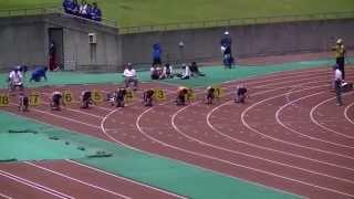 2013中部中学通信男子3年100m予選3組