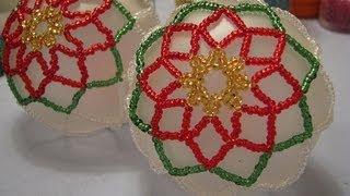 Poinsettia Beaded Ornament ~ Part 1 Of 2