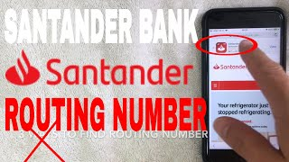 ✅  Santander Bank ABA Routing Number - Where Is It? 🔴