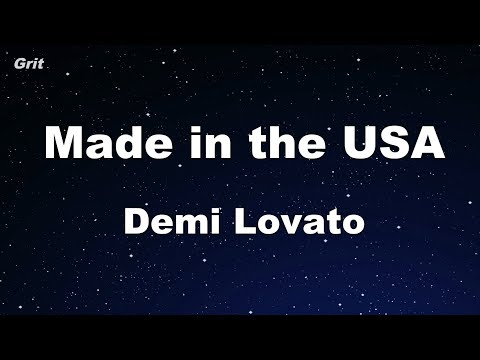 Made In The USA - Demi Lovato Karaoke 【No Guide Melody】 Instrumental Mp3