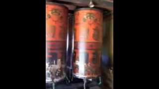 preview picture of video 'Spinning Large Prayer Wheels in Thimphu, Capital of Bhutan'