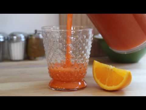 Video Juicing Recipes - How to Make Carrot and Orange Juice