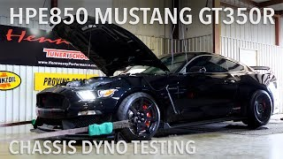 HPE850 Mustang GT350R Chassis Dyno Testing