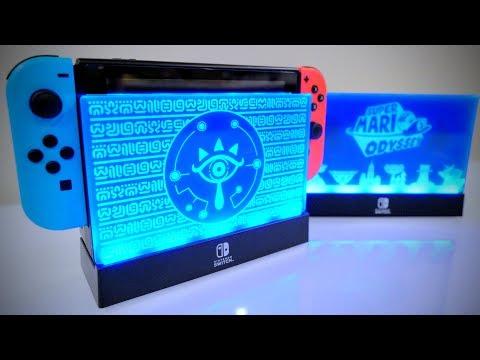 SPECIAL Nintendo Switch LIGHT UP DOCK [Zelda Breath of the Wild & Super Mario Odyssey]