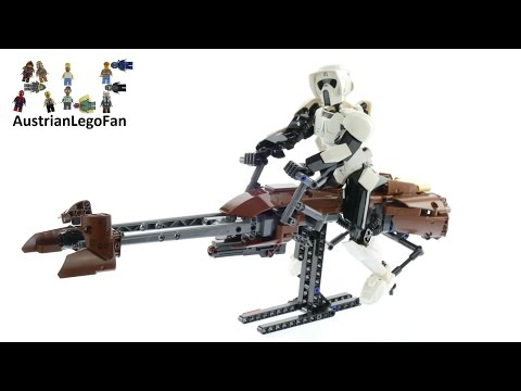 Vidéo LEGO Star Wars 75532 : Scout Trooper & Speeder Bike