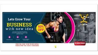 Fitness billboard design flex banner hoarding designing CorelDraw online tutorial
