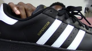 Mens Adidas Superstar Foundation (Original) Black And White Review + On Feet