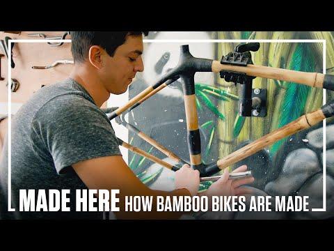 Handmade bamboo bikes in Mexico