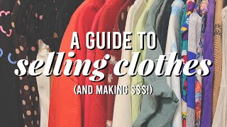 How to (Strategically) Sell Clothes + Make $$$ | Depop, Poshmark, Ebay, Resale Shops, Etc!