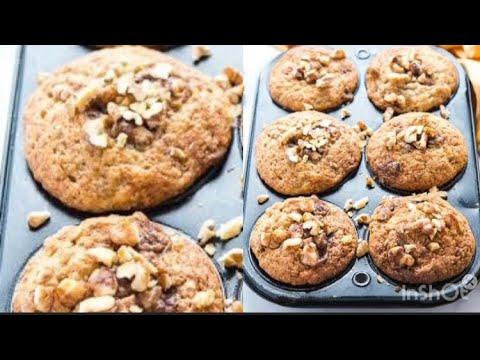 BANANA WALNUT MUFFINS //banana nut muffins racipe//Ayeka's vlog