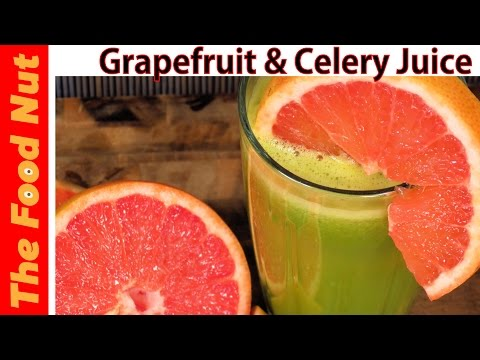 Video Celery, Grapefruit & Apple Green Juice Recipe - Healthy Detox & Cleanse Juice Making | The Food Nut