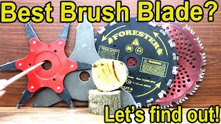 Best Brush Cutter Blade? Let's find out!  Stihl, Husqvarna, Echo, Oregon, Renegade & Forester