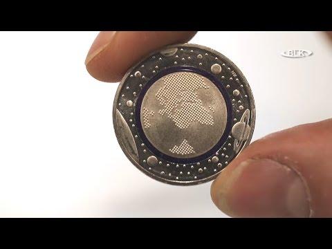 5-Euro-Sammler-Münze Planet Erde Thomas May Sparkasse Burgenlandkreis