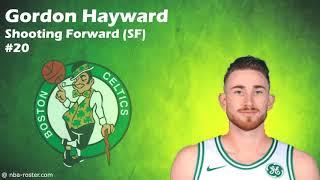 Boston Celtics Roster for NBA 2017 - 18 Season