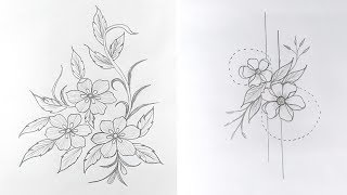 7 Engaging Hand Embroidery Patterns, Artistic Pencil Drawing, Pencil Drawing Course,নকশা অংকন
