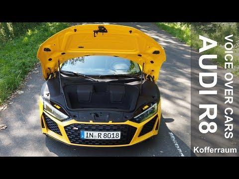 2019 Audi R8 V10 Coupé performance: Kofferraum Volumen | Motorhaube öffnen | Wischwasser auffüllen
