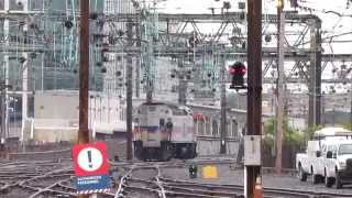 preview picture of video 'Amtrak Train 20 Washington Union Station Power Change Montage'