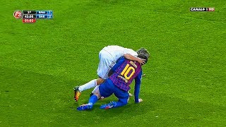 Evil Madrid CF ● 10 Dirty Actions vs Lionel Messi ● Disgusting Club   HD  
