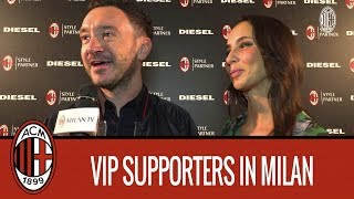 VIP Rossoneri supporters at the Diesel event