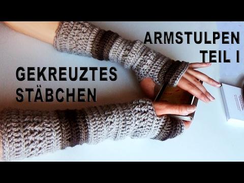 Trendige Gehäkelte Fingerlose Armstulpen I Lang Pulswärmer