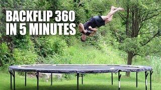 Learn Backflip 360 On A Trampoline In 5 Minutes Easy