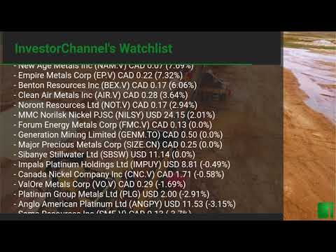 InvestorChannel's Palladium Watchlist Update for Wednesday ... Thumbnail