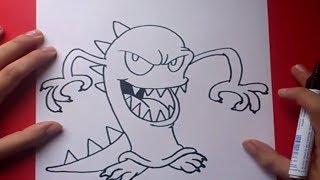 Como dibujar un monstruo paso a paso 3 | How to draw a monster 3