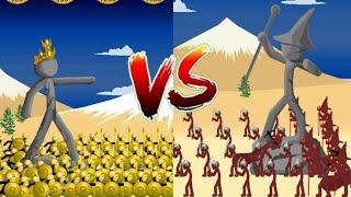180 Golden Speartons VS Magikill | Insane MODE Campaign | Stick War Legacy