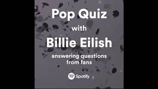 Pop Quiz With Billie Eilish   Spotify Australia