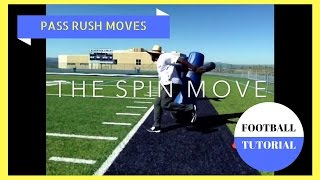 Pass Rush Moves – SPIN MOVE – American Football Tutorial – Defensive Line Drills
