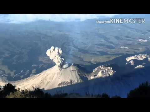Santiaguito eruption filmed from Santa M