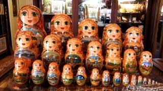 Super Matryoshka Nesting Doll At The Russian Gift Shop In Lisle, Illinois