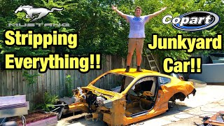 Stripping Everything From My Totaled Wrecked 2018 Ford Mustang GT From Copart Salvage Auction