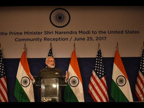 PM Modi at Indian Community Event in Washington DC, USA