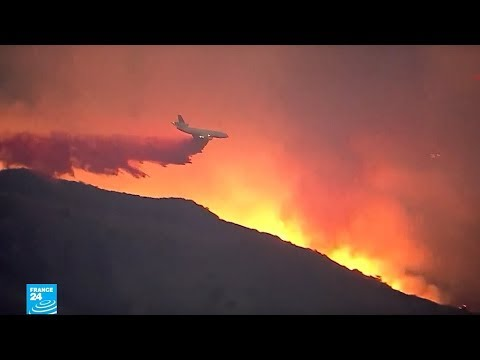 العرب اليوم - شاهد:حريق كاليفورنيا يحوّل أحياء كاملة إلى رماد