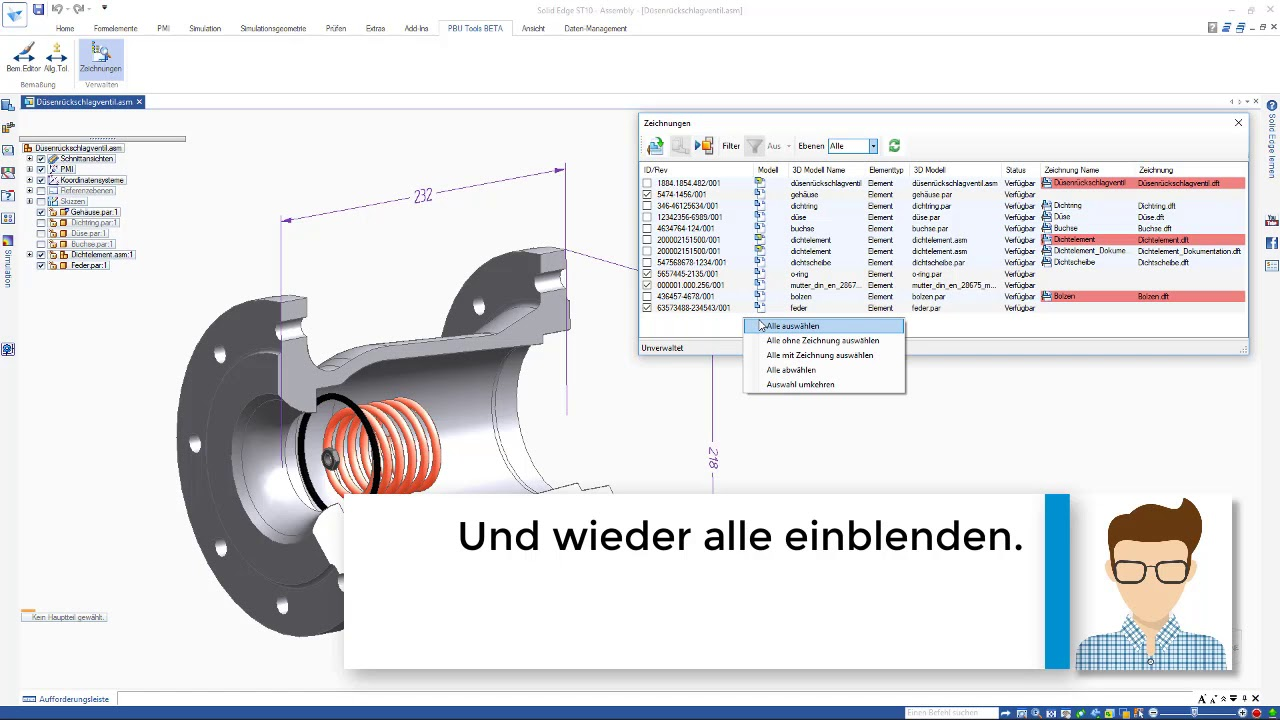 Vorschaubild: PBU-Tool für Solid Edge: Drawing Finder